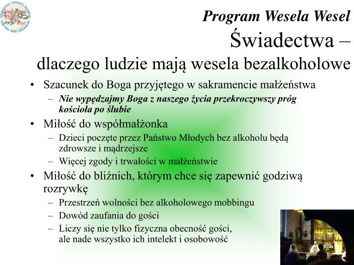Program Wesela Wesel