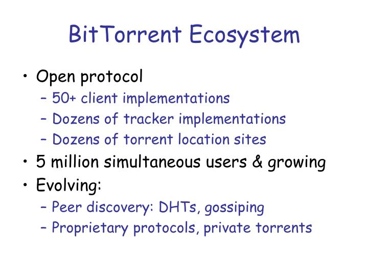 BitTorrent Ecosystem