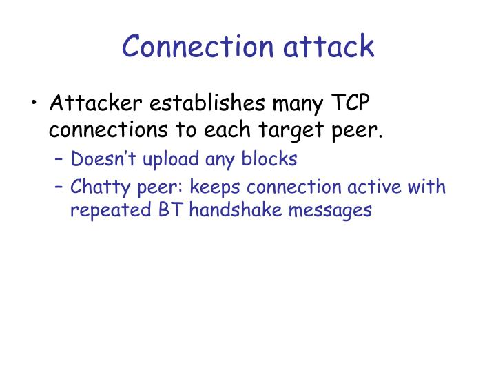 Connection attack