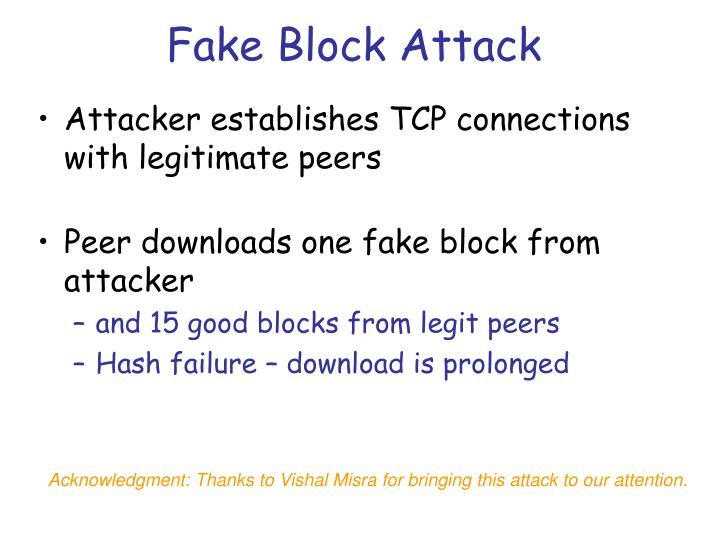 Fake Block Attack