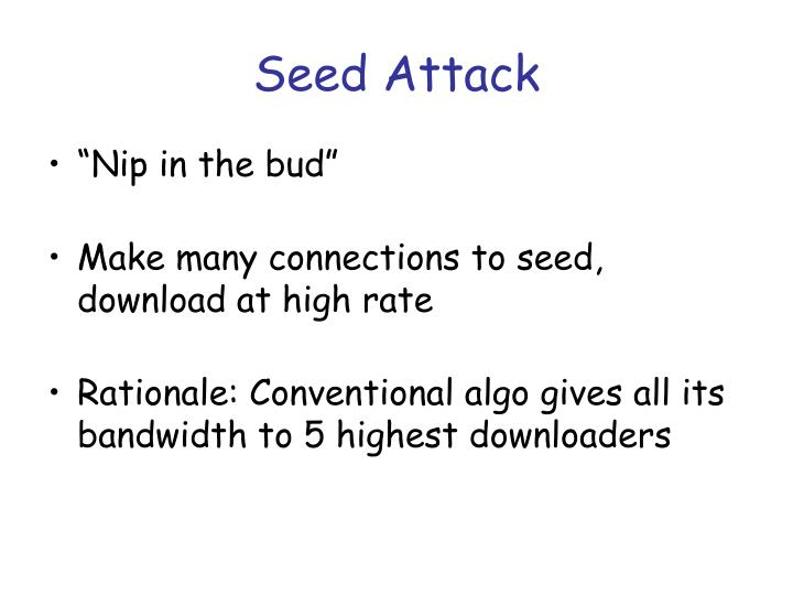 Seed Attack