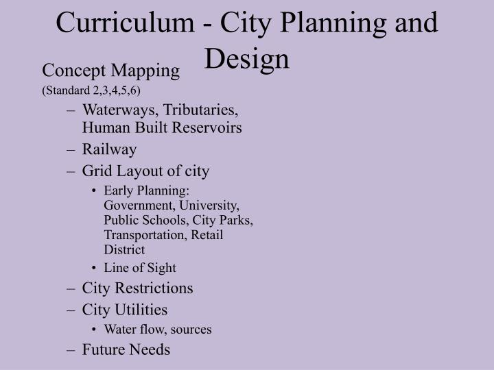 Curriculum - City Planning and Design