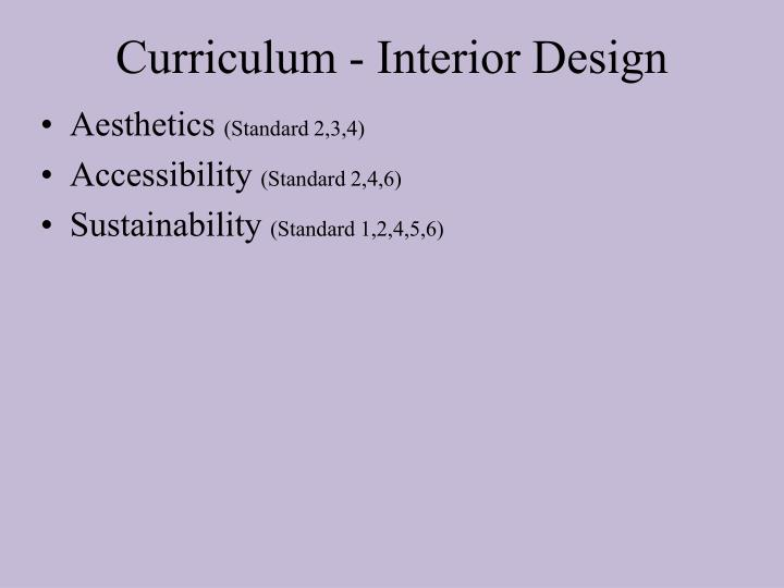 Curriculum - Interior Design