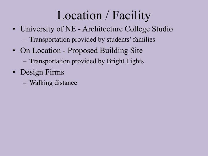 Location / Facility