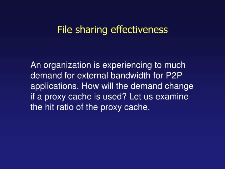 File sharing effectiveness
