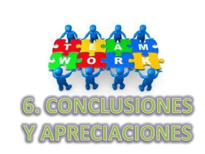 6. CONCLUSIONES Y APRECIACIONES