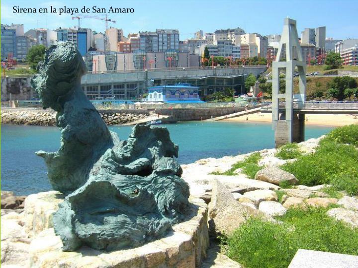 Sirena en la playa de San Amaro