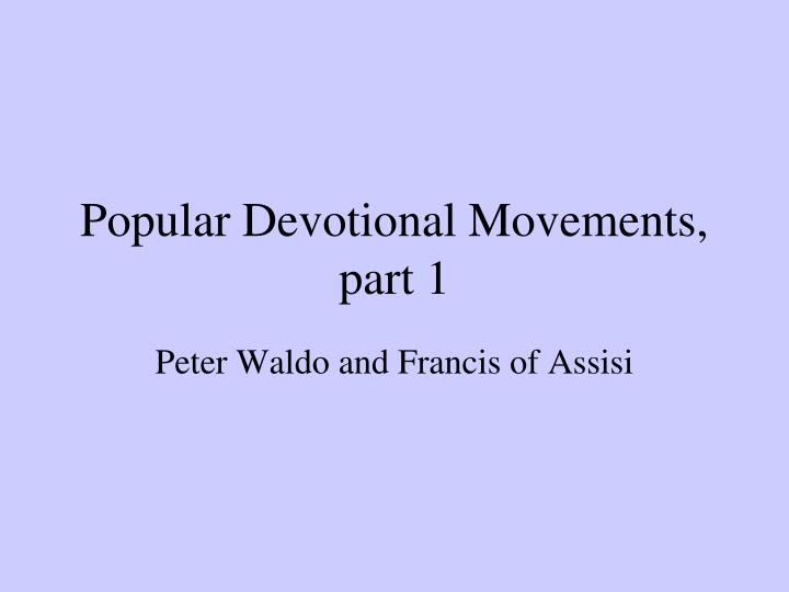 peter waldo and the waldesians essay
