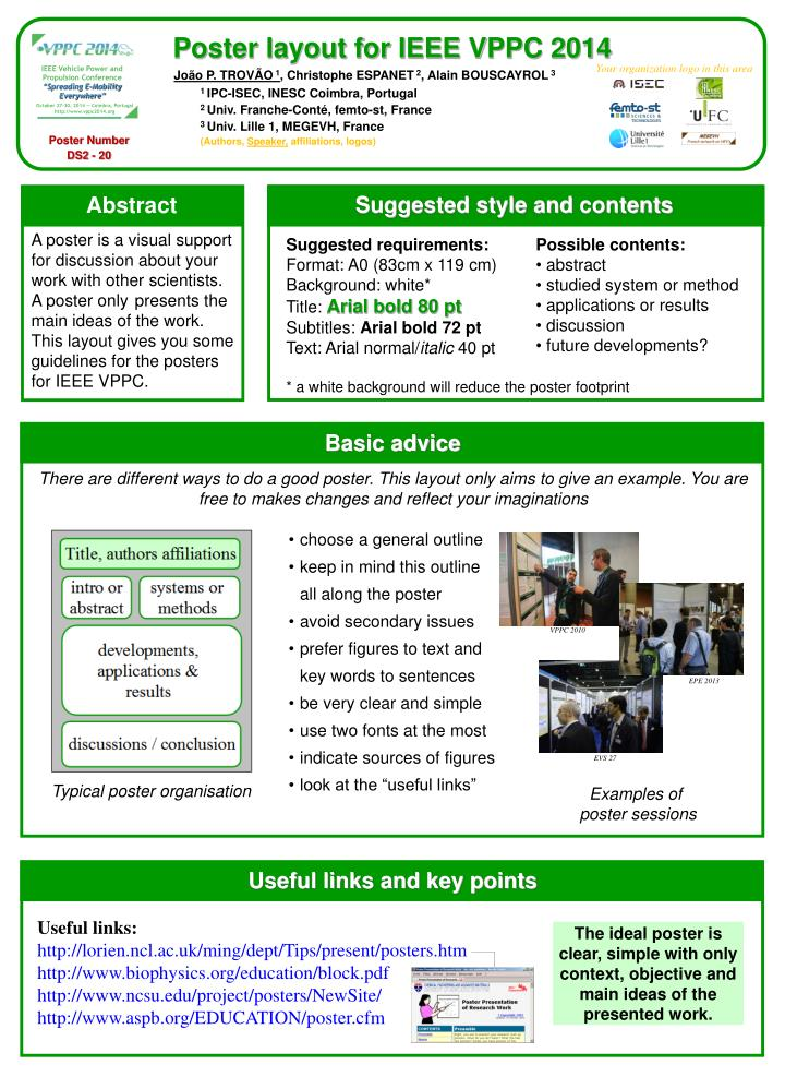 Poster layout for ieee vppc 2014
