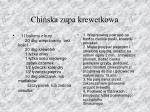 chi ska zupa krewetkowa