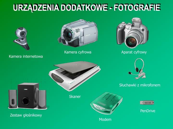 URZDZENIA DODATKOWE - FOTOGRAFIE