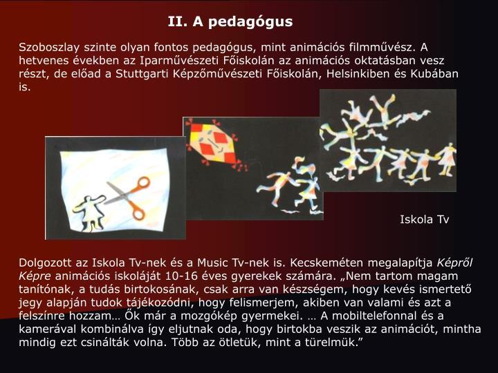 II. A pedagógus