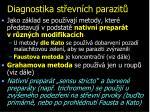 diagnostika st evn ch parazit