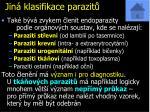 jin klasifikace parazit