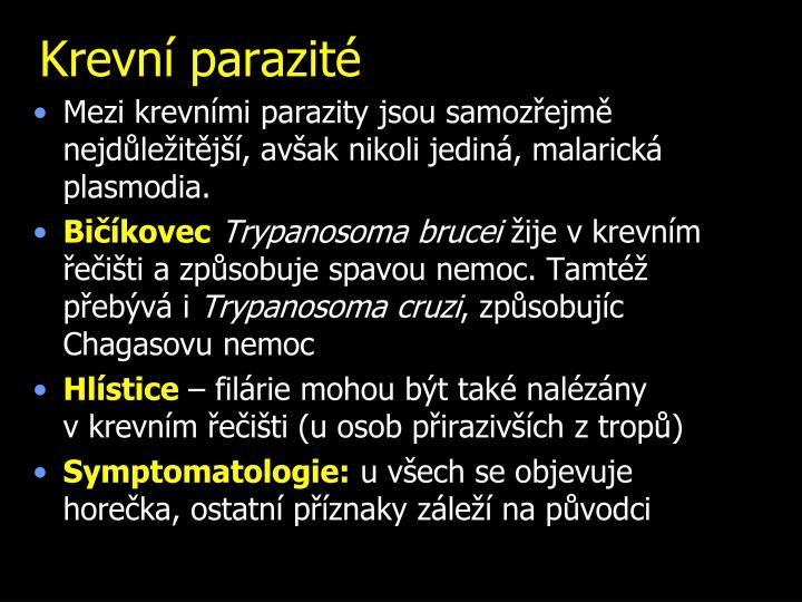 Krevní parazité