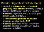 paraziti diagnostick metody obecn