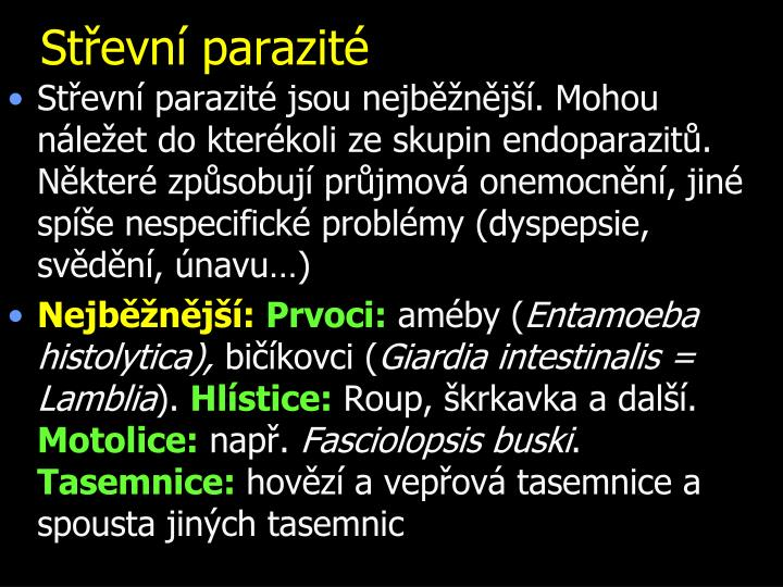 Střevní parazité