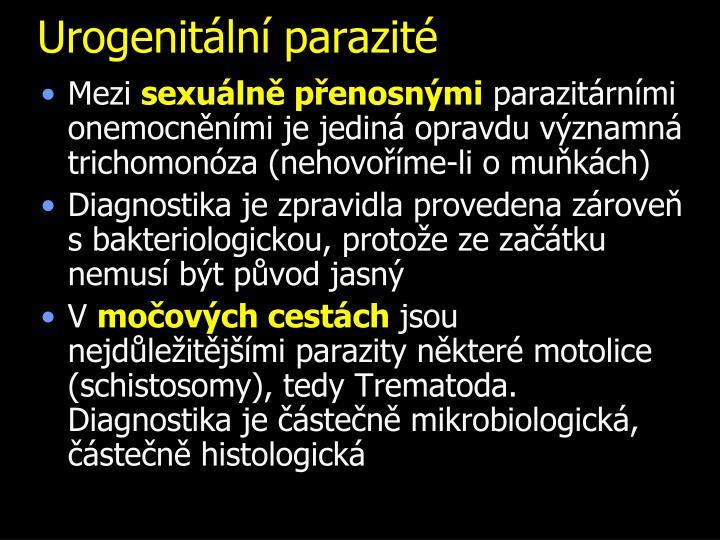Urogenitální parazité
