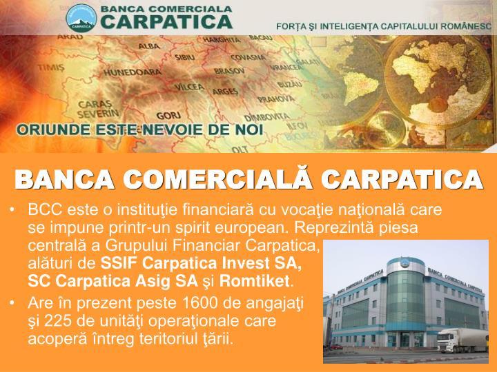 BANCA COMERCIALĂ CARPATICA