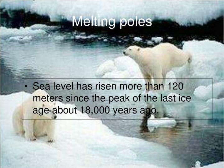 Melting poles