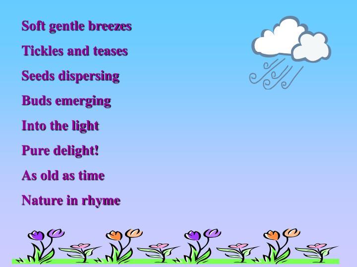 Soft gentle breezes