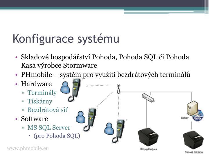 Konfigurace systému