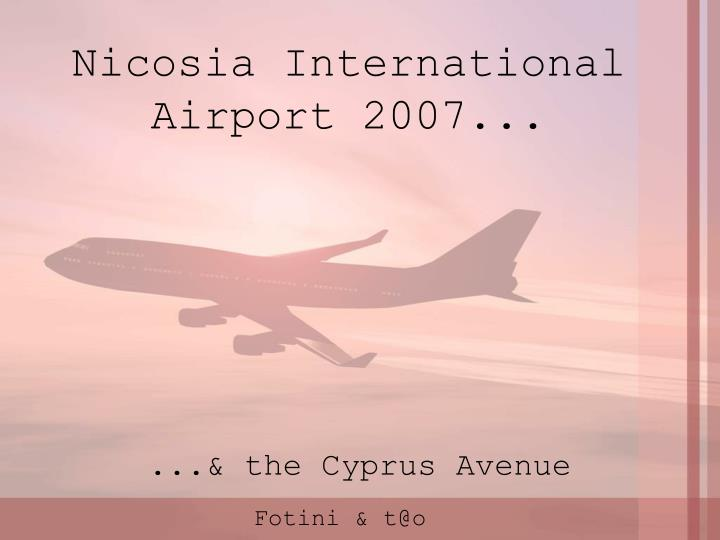Nicosia International Airport 2007
