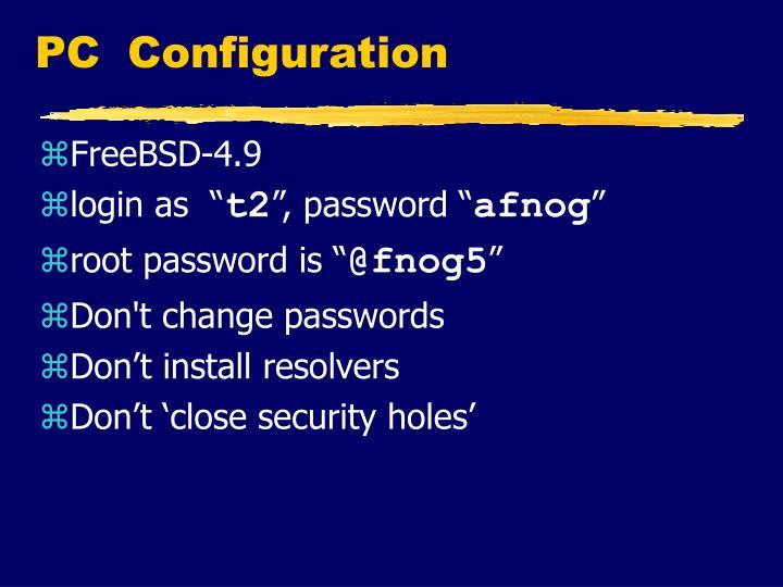 PC Configuration