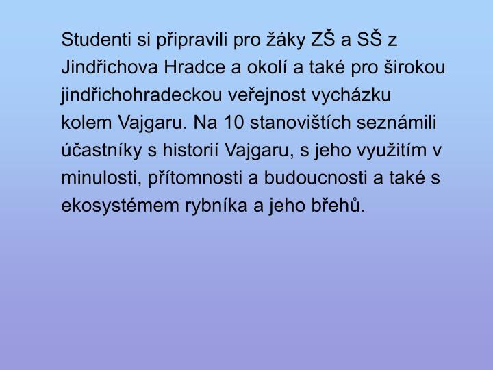 Studenti si připravili pro žáky ZŠ a SŠ z