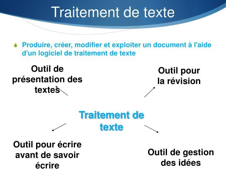 Traitement de texte