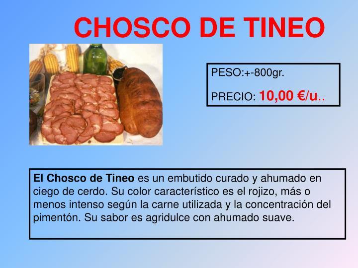 CHOSCO DE TINEO