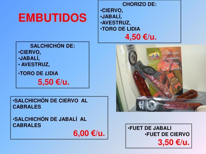 CHORIZO DE: