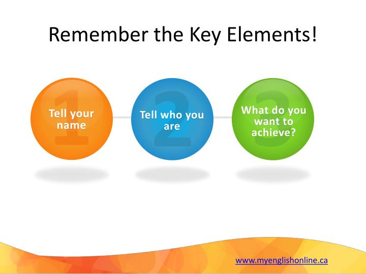 Remember the Key Elements!