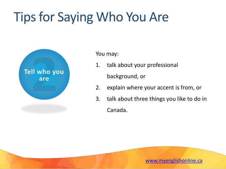 Tips for Saying Who