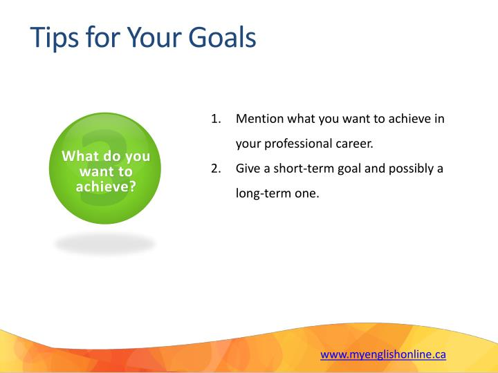 Tips for Your Goals