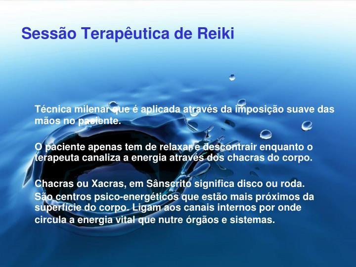 Sessão Terapêutica de Reiki