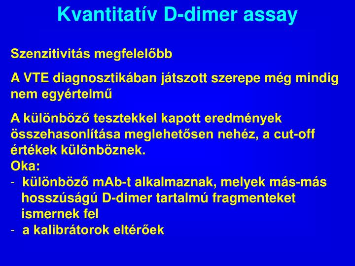 Kvantitatív D-dimer assay