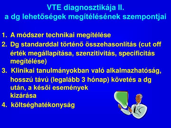 VTE diagnosztikája II.