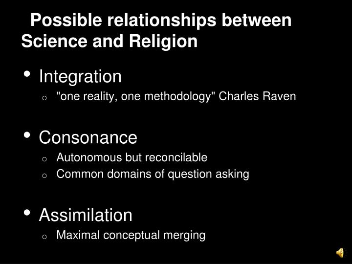 Possible relationships between Science and Religion