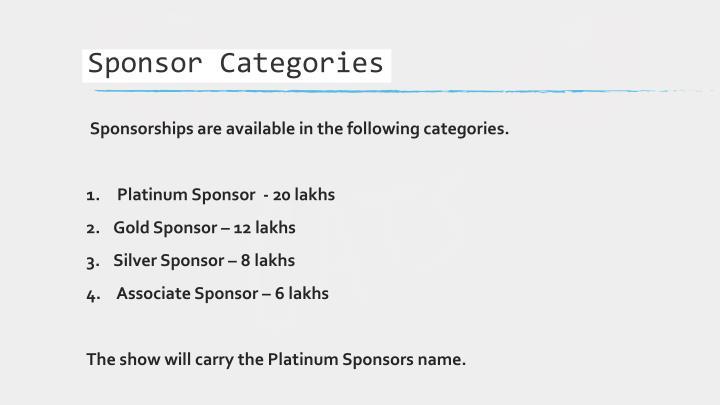 Sponsor Categories