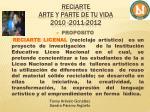 reciarte arte y parte de tu vida 2010 2011 2012