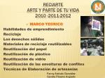 reciarte arte y parte de tu vida 2010 2011 20123