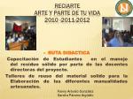 reciarte arte y parte de tu vida 2010 2011 20125