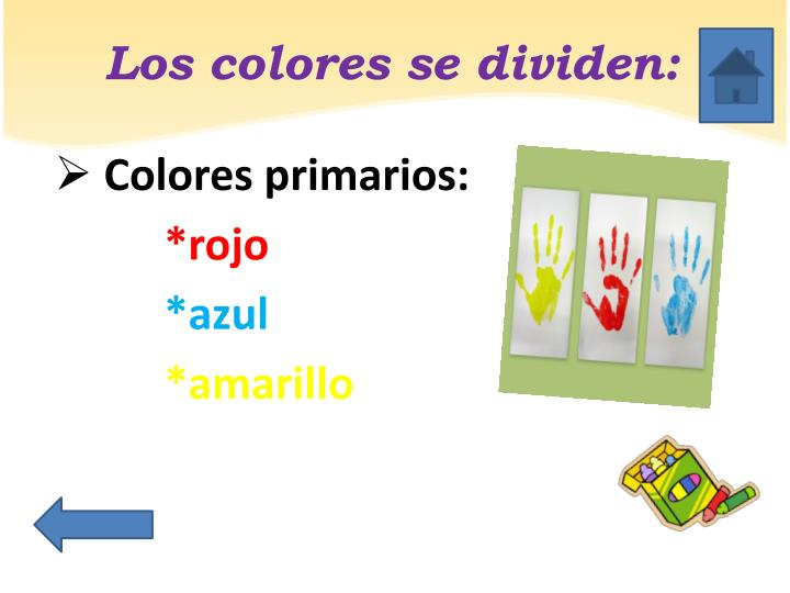 Los colores se dividen: