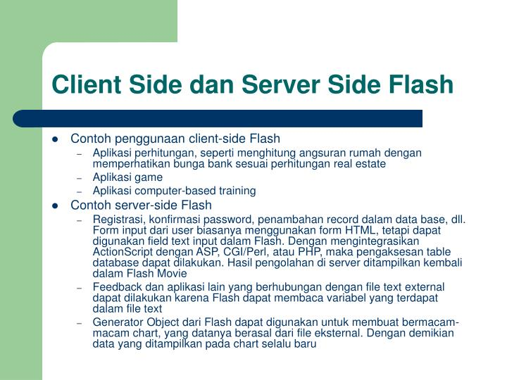 Client side dan server side flash