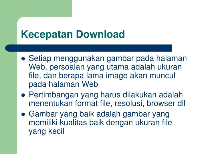 Kecepatan Download