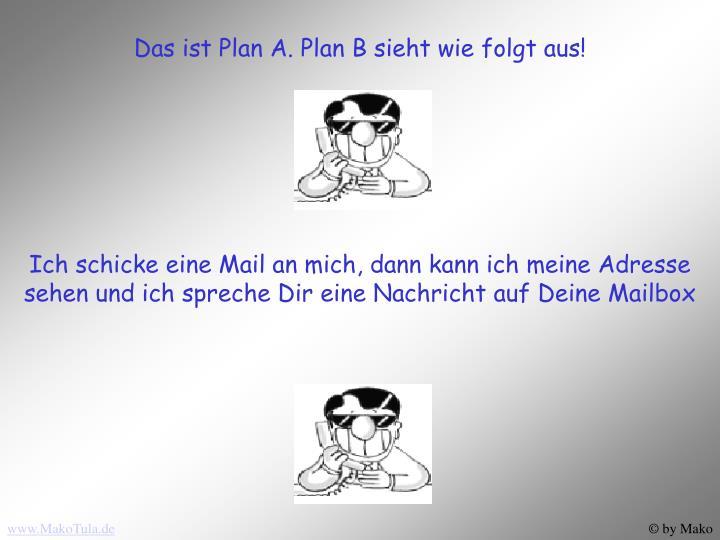 Das ist Plan A. Plan B sieht wie folgt aus!