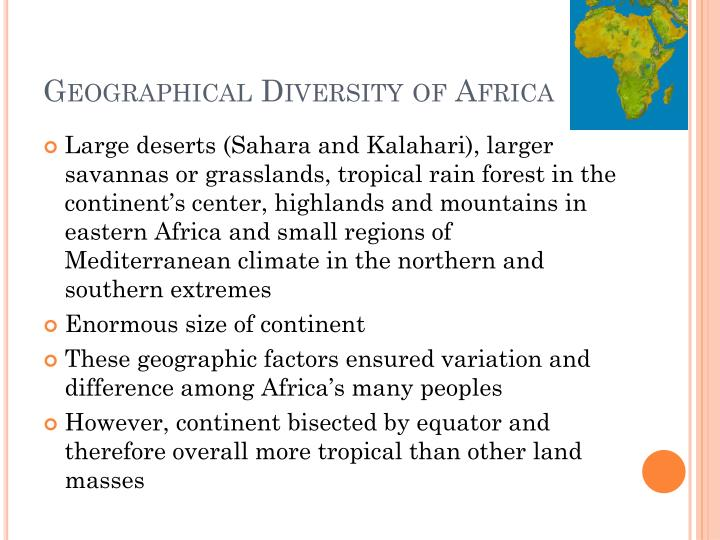 Geographical Diversity of Africa