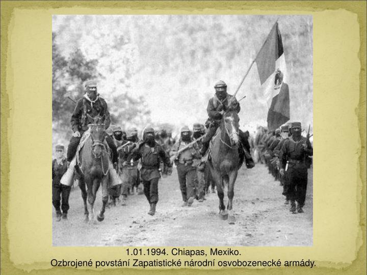1.01.1994. Chiapas, Mexiko.