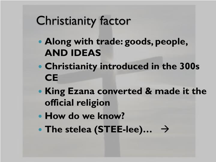 Christianity factor